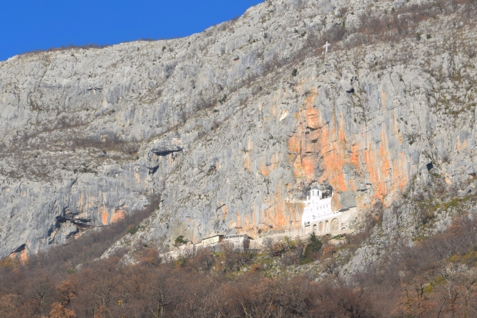 The Monastery from the road.