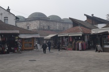 Souvenir shops in the Old Town. While many of the shops are aimed at tourists, the Old Town is still a favourite spot for locals.