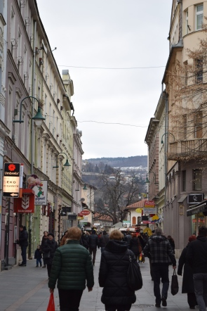 Shops line the streets in the Old Town.