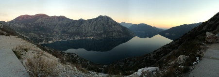 On our way back to Kotor. This is one part of the bay.