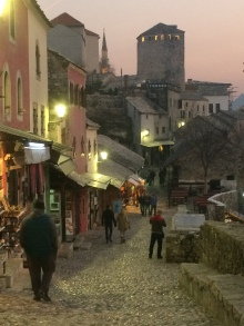 Darkness falls on Mostar.