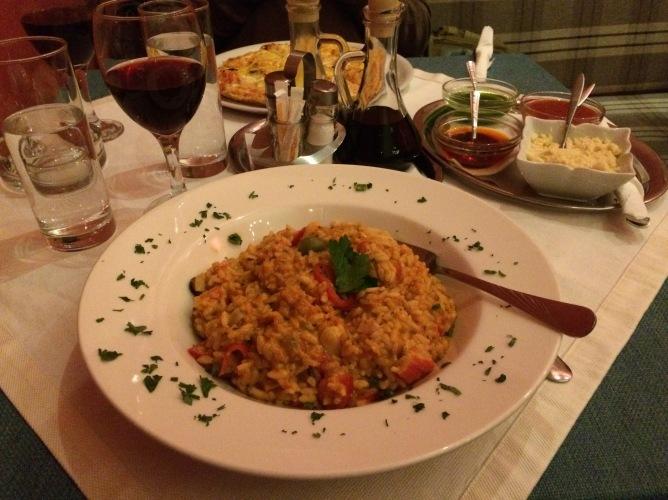 Seafood Risotto at Piccolo Mondo.