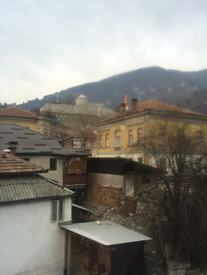 A fortress in a small Bosnian town, on our way back to Zagreb.