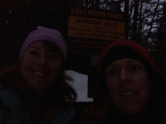 We made it back to the trailhead JUST before dark. Phew!