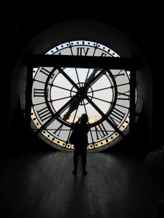 The old train station clock that you can see in the Musee D'Orsay.
