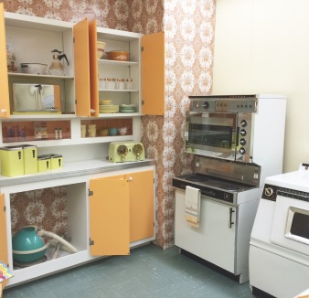A nuclear kitchen. I think my grandmother had those glasses.