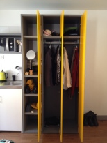 I love being able to truly unpack and settle into a place. Having closet space to do so makes me happy.