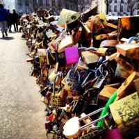 The famous Love Lock Bridge (that many Parisians hate).