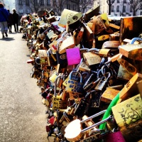 The famous Love Lock Bridge (that many Parisians hate).