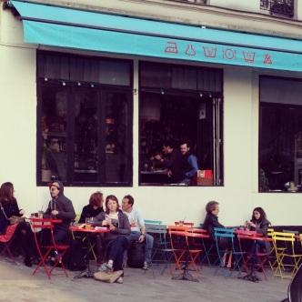 """La Laverie, a """"bo-bo"""" restaurant in Menilmontant."""