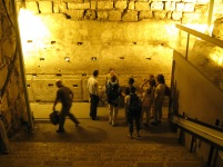 Tours are available in English and Hebrew, and in August there are also tours given in French. Our guide was American.