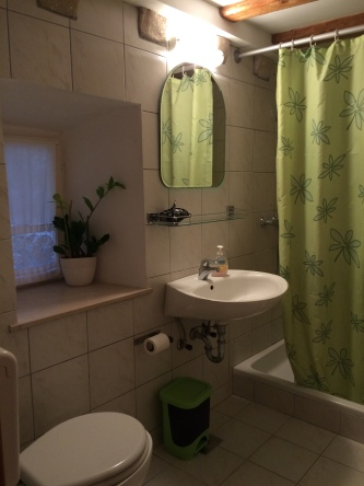 Clean and cute bathroom in the apartment.