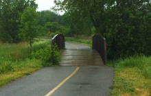 These lovely bridges dot the trails throughout the city. Ottawa does such a good job with its recreational pathways.