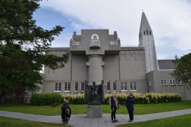 This garden is behind the Einar Jonsson Museum that is beside Hallgrimskirkja Church. It is open all the time, is free and holds the sculptures of Einar Jonsson.