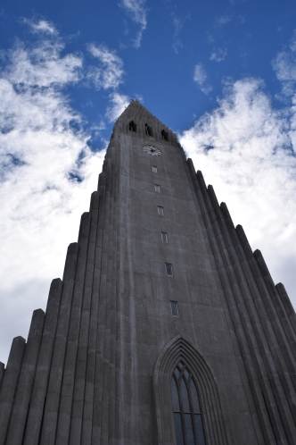 Hallgrimskirkja Church. The columns were inspired by the basalt columns found in Iceland.