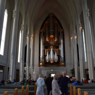 The real reason to visit Hallgrimskirkja - its incredible pipe organ. That's actually played on a regular basis!