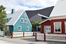 Beautiful houses in Isafjordur.