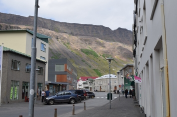 Downtown Isafjordur.