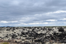 Lava fields.