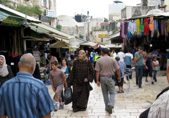 The souk during the day.