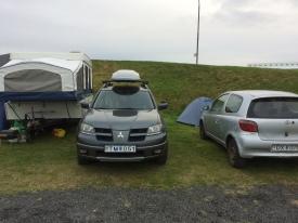 Camping in Grindavik.