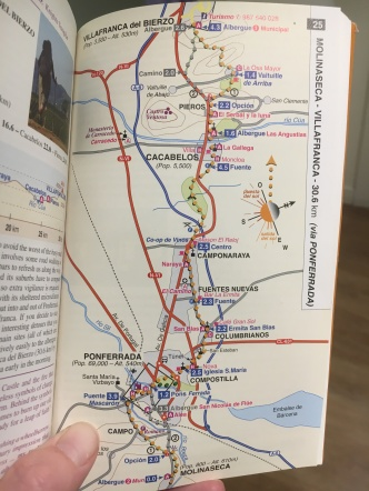 I took a photo every morning of our route for easy reference since I kept the guidebook in my backpack.