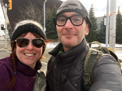 Bob and I start walking the Rideau Trail from the Canadian War Museum.