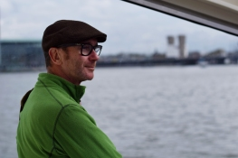 Bob enjoys the unique experience of taking the ferry every day.
