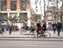 Look both ways multiple times before accidentally stepping into a bike lane.