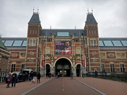 The impressive facade of the Rijksmuseum.