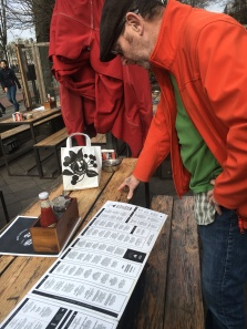 Pages and pages of beers listed on their menu.
