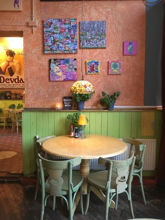 Cheerful colours and quirky decor made this place definitely memorable.