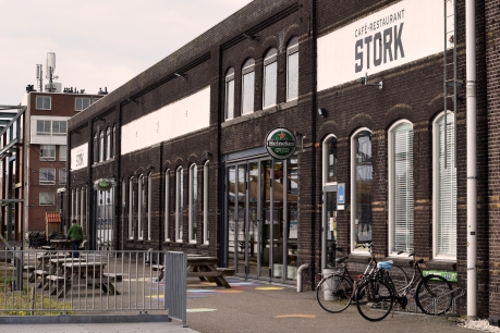 Stork, a chill yet elegant restaurant on the water in Noord.