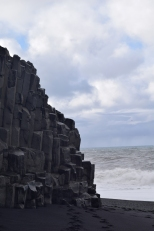 Basalt columns on the beach. This type of column, which happens all over Iceland is the inspiration for Hallgrímskirkja in Reykjavik.