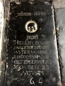 A tombstone in Haarlem's Grote Kerk.