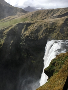 Skogafoss from the top.